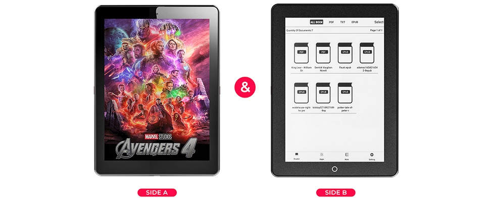 Janus-tablet is stiekem ook e-reader