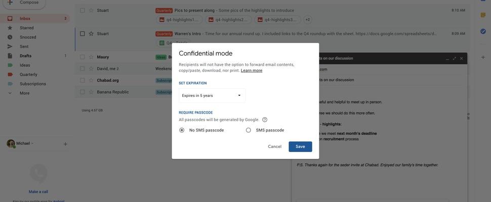 'Gmail krijgt zelfvernietigende berichten'