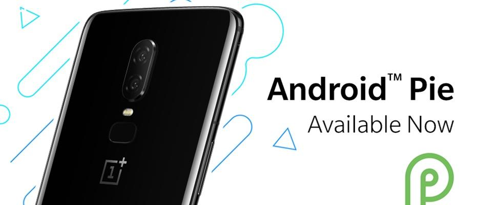Android 9.0 Pie uit voor OnePlus 6