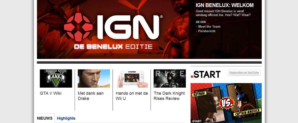 Gamesite IGN nu ook in Nederland en België