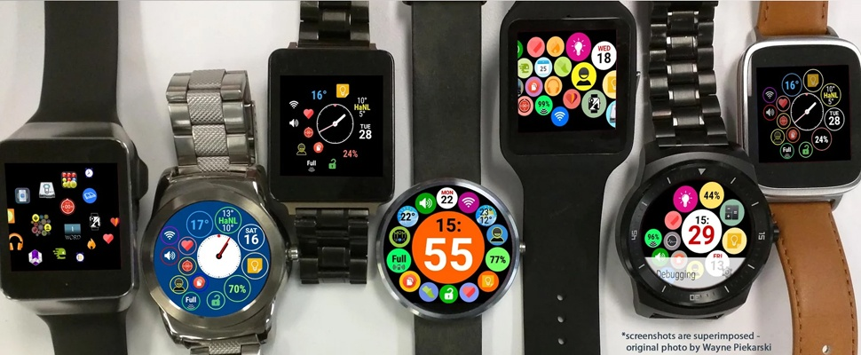 Android Wear-watch lijkt op Apple Watch met Bubble Cloud