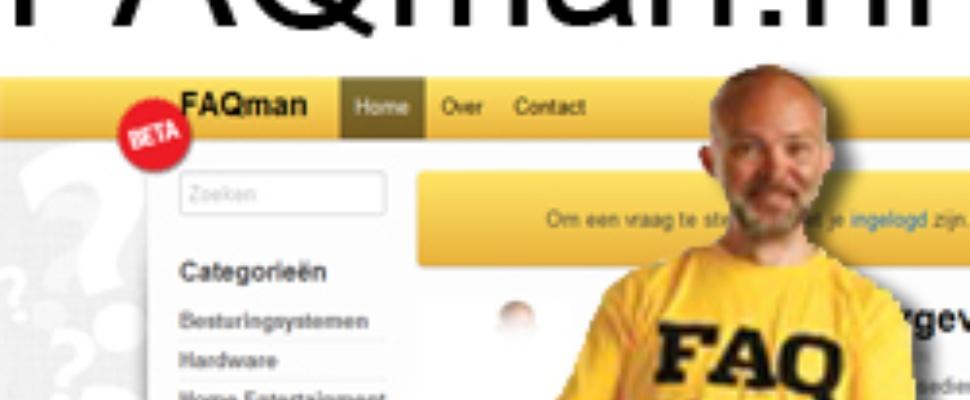 FAQman.nl gelanceerd: het antwoord op digitale vragen
