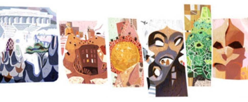 Antoni Gaudi Google Doodle