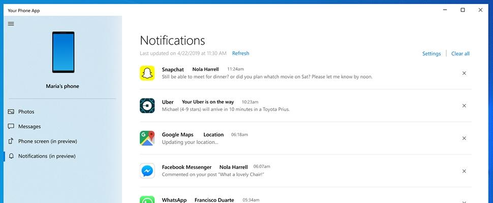 Zo zien smartphone-meldingen er straks in Windows 10 uit