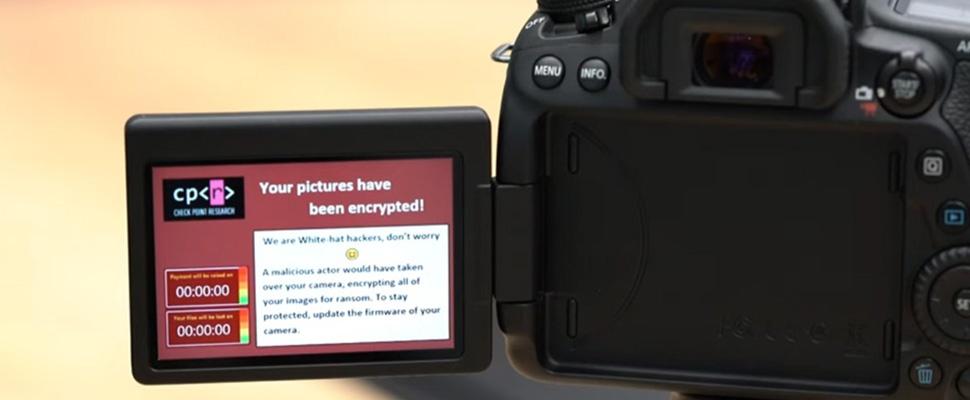 Onderzoekers laden ransomware op Canon-camera