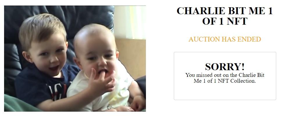 Charlie bit my finger-video verdwijnt van YouTube na veiling als NFT