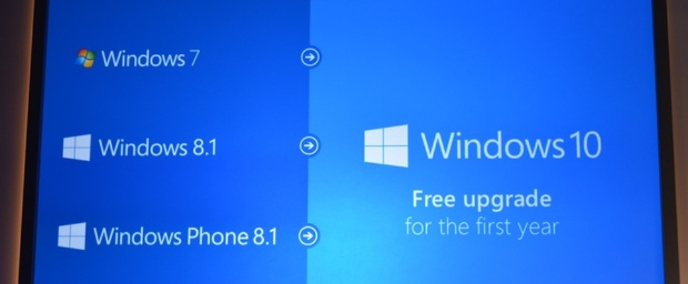 Windows 10 gratis upgrade voor Windows 7-, 8- en 8.1-gebruikers