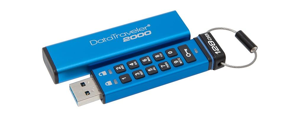 Data veilig opgeborgen met DataTraveler 2000-usb-stick