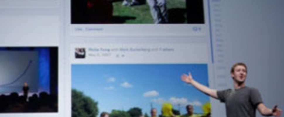 TimeLine van Facebook toont je hele leven