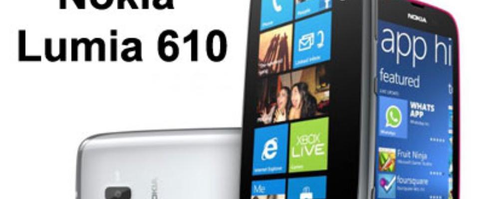 Nokia Lumia 610 eerste met Windows Phone Tango