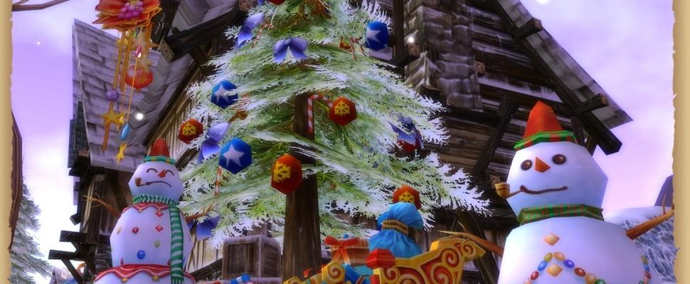 Kerst in online game Runes of Magic