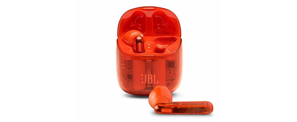 Oranje boven met JBL Tune 225TWS Ghost-oordopjes