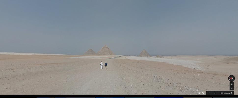 Bekijk de piramides van Gizeh op Google Streetview
