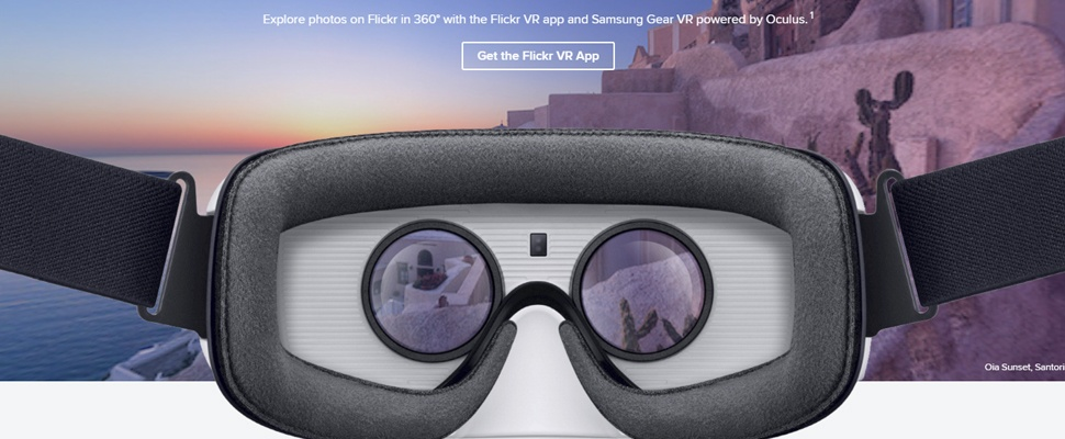 Virtual reality-app van Flickr voor Gear VR