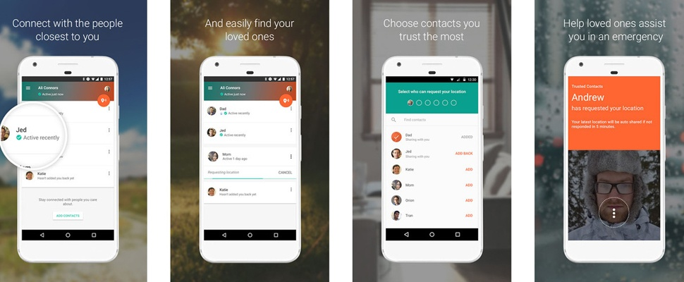 Deel je locatie met Vertrouwde Contacten-app