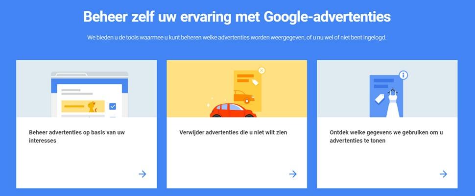 Google geeft meer controle over achtervolgende reclame