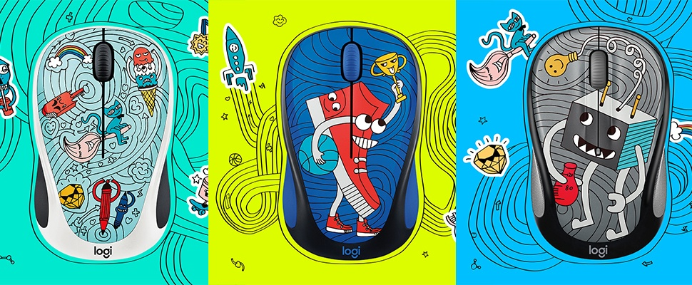 Win een Logitech Doodle Collection 2017-muis