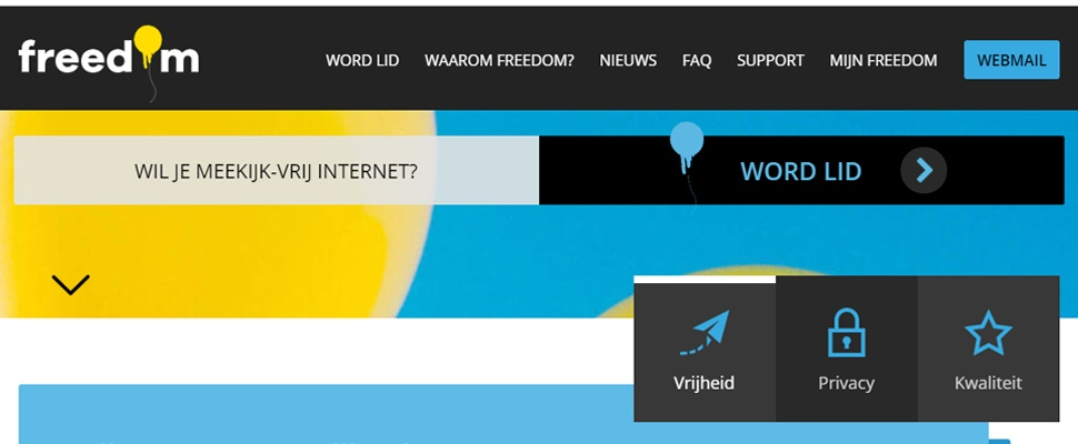 XS4All-aanhangers lanceren nieuwe provider: Freedom Internet