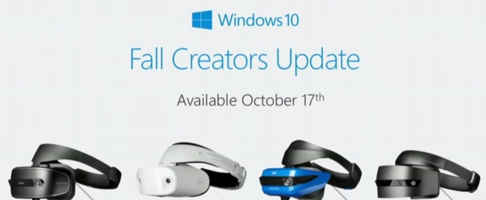 Windows 10 Fall Creators Update met Mixed Reality komt 17 oktober uit