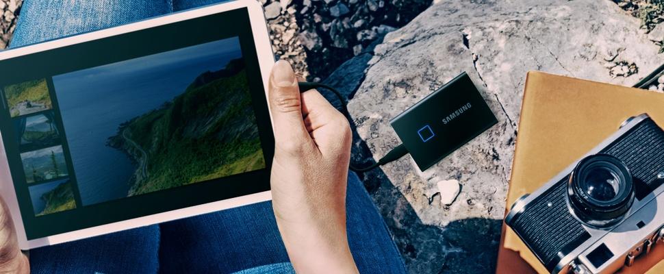 Samsung Portable SSD T7 Touch: Veilig én handig