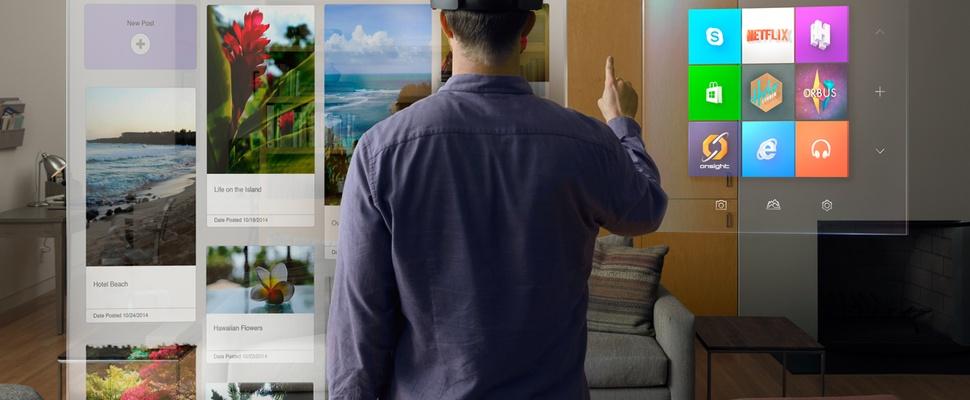 Microsoft onthult Google Glass/Oculus Rift-concurrent HoloLens