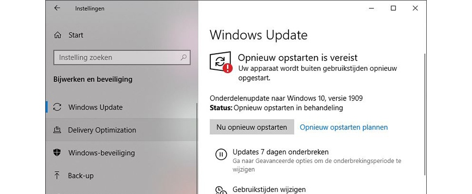 Windows 10 november 2019 update installeren doe je zo