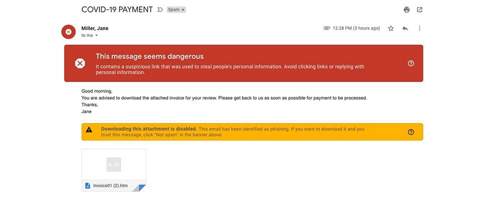 Google onderschept miljoenen corona-phishingmails