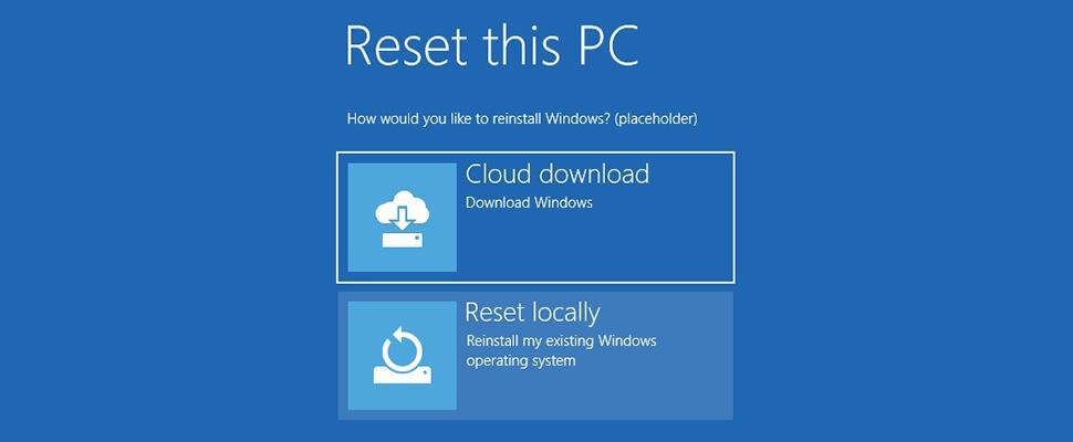 Windows 10 straks zonder opslagmedium te herinstalleren