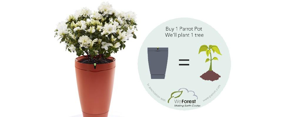 Parrot Pot: Slimme bloempot kopen voor het goede doel