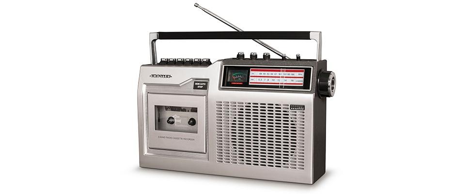 Cassettebandjes weer hip door Crosley CT100