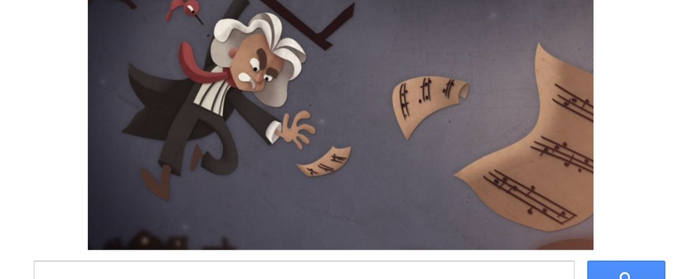 Beethoven herdacht door Google