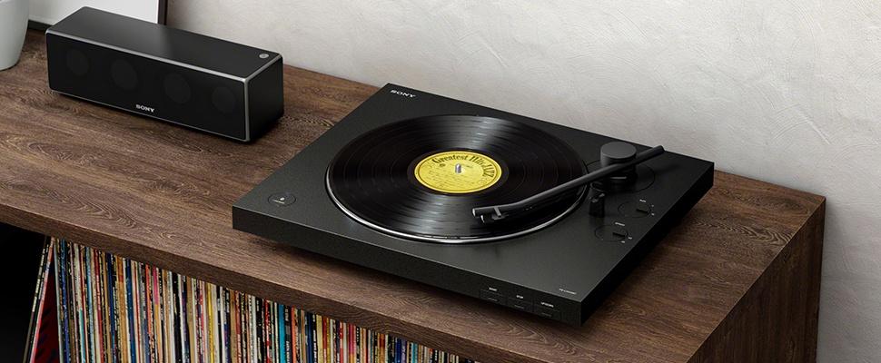 Draadloos geluid met Sony PS-LX310BT-platenspeler