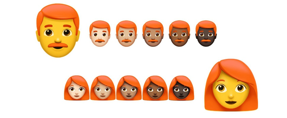 Topoverleg over roodharige emoji
