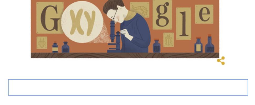 Nettie Stevens herdacht door Google