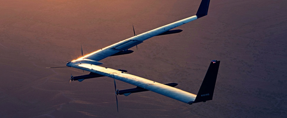 Succesvolle testvlucht voor internetdrone Facebook