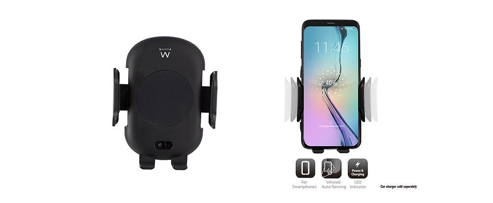 Win een EW1191 Automatische Smartphonehouder van Ewent
