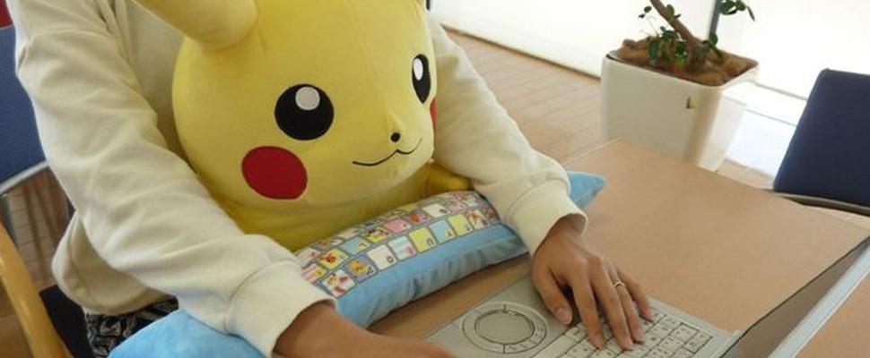 Pikachu helpt bij juiste computerhouding