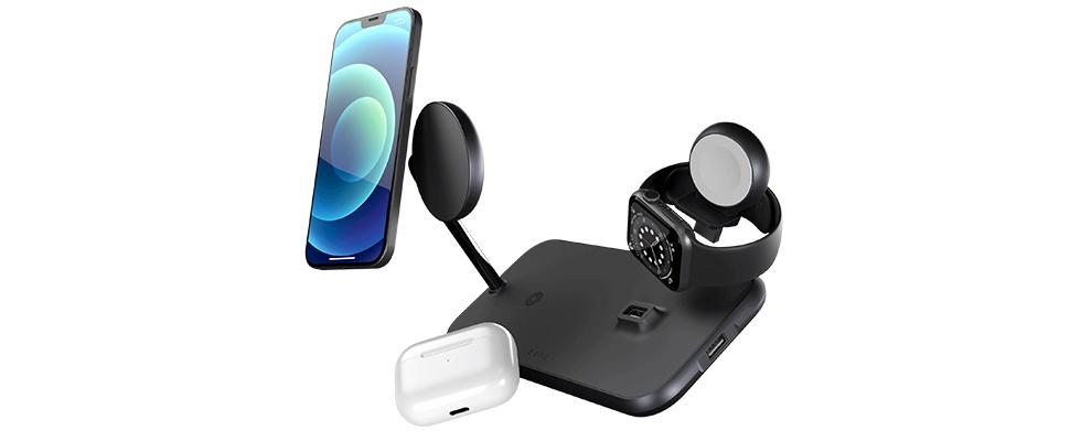 Zens 4-in-1 MagSafe-oplader voedt vier Apple-gadgets tegelijk