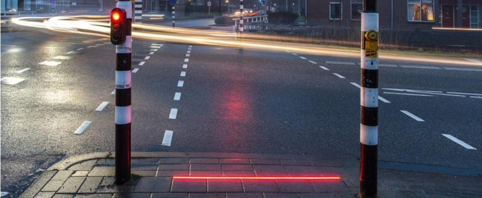 Lichtlijn voor smartphone-zombies blijkt te werken