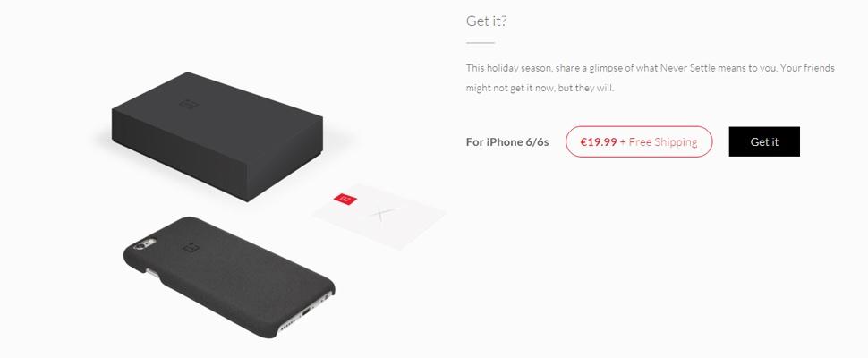 OnePlus verkoopt voortaan iPhone 6-hoesjes