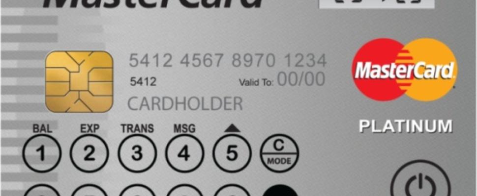 Mastercard Display Card: Creditcard met scherm en toetsenbord