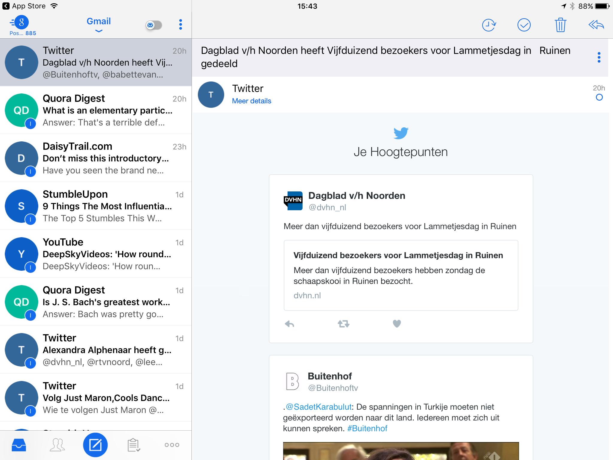 Blue Mail - Eén app voor al uw mail gratis downloaden